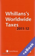Cover of Whillans's Worldwide Taxes 2011-2012 (Book & eBook Pack)