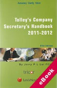Cover of Tolley's Company Secretary's Handbook 2011 - 2012 (eBook)