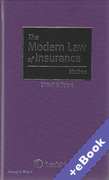 Cover of The Modern Law of Insurance (Book & eBook Pack)