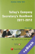 Cover of Tolley's Company Secretary's Handbook 2011 - 2012 (Book & eBook Pack)