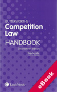 Cover of Butterworths Competition Law Handbook 2011 (eBook)