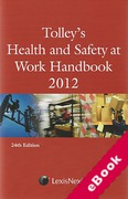 Cover of Tolley's Health and Safety at Work Handbook 2012 (eBook)