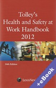 Cover of Tolley's Health and Safety at Work Handbook 2012 (Book & eBook Pack)