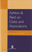 Cover of Ashton & Reid on Clubs and Associations