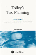 Cover of Tolley's Tax Planning 2012-13