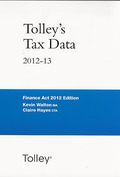 Cover of Tolley's Tax Data 2012-13: Finance Act 2012 Edition