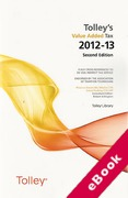 Cover of Tolley's Value Added Tax 2012-13: 2nd edition (eBook)