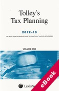 Cover of Tolley's Tax Planning 2012-13 (eBook)