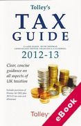 Cover of Tolley's Tax Guide 2012-2013 (eBook)