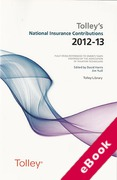 Cover of Tolley's National Insurance Contributions 2012-13 (eBook)