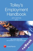 Cover of Tolley's Employment Handbook 2012 (Book & eBook Pack)