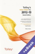 Cover of Tolley's Value Added Tax 2012-13: 2nd edition (Book & eBook Pack)
