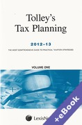 Cover of Tolley's Tax Planning 2012-13 (Book & eBook Pack)