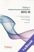 Cover of Tolley's National Insurance Contributions 2012-13 (Book & eBook Pack)