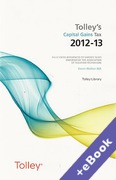 Cover of Tolley's Capital Gains Tax 2012 - 2013 (Book & eBook Pack)