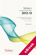 Cover of Tolley's Capital Gains Tax 2012 - 2013 (eBook)