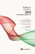 Cover of Tolley's Income Tax 2012-13: Post-Budget Supplement & Main Annual