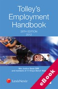 Cover of Tolley's Employment Handbook 2012 (eBook)