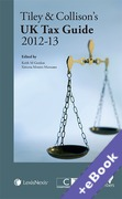 Cover of Tiley & Collison's: UK Tax Guide 2012 - 13 (Book & eBook Pack)