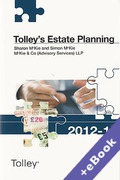 Cover of Tolley's Estate Planning 2012-13 (Book & eBook Pack)