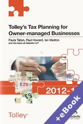 Cover of Tolley's Tax Planning for Owner Managed Businesses 2012-13 (Book & eBook Pack)