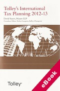 Cover of Tolley's International Tax Planning 2012-13 (eBook)