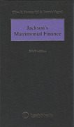 Cover of Jackson's Matrimonial Finance