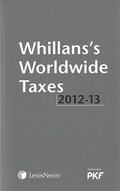 Cover of Whillans's Worldwide Taxes 2012-2013