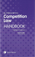 Cover of Butterworths Competition Law Handbook 2012