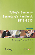 Cover of Tolley's Company Secretary's Handbook 2012-13