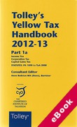 Cover of Tolley's Yellow Tax Handbook 2012-13 (eBook)