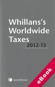 Cover of Whillans's Worldwide Taxes 2012-2013 (eBook)