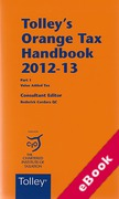 Cover of Tolley's Orange Tax Handbook 2012-13 (eBook)