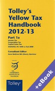 Cover of Tolley's Yellow Tax Handbook 2012-13 (Book & eBook Pack)