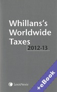 Cover of Whillans's Worldwide Taxes 2012-2013 (Book & eBook Pack)
