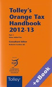 Cover of Tolley's Orange Tax Handbook 2012-13 (Book & eBook Pack)