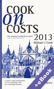 Cover of Cook on Costs 2013 (Book & eBook Pack)