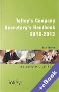 Cover of Tolley's Company Secretary's Handbook 2012-13 (Book & eBook Pack)