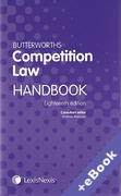 Cover of Butterworths Competition Law Handbook 2012 (Book & eBook Pack)