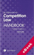 Cover of Butterworths Competition Law Handbook 2012 (eBook)