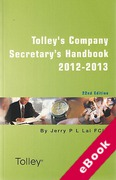 Cover of Tolley's Company Secretary's Handbook 2012-13 (eBook)
