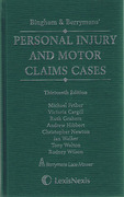 Cover of Bingham & Berryman's Personal Injury and Motor Claims Cases 13th ed with Supplement
