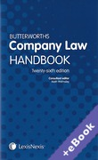 Cover of Butterworths Company Law Handbook 2012 26th ed (Book & eBook Pack)