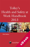 Cover of Tolley's Health and Safety at Work Handbook 2013 (eBook)
