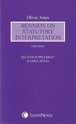 Cover of Bennion on Statutory Interpretation 5th ed: 2nd Supplement