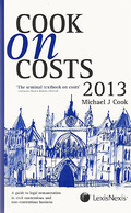 Cover of Cook on Costs 2013 & Jackson Review Supplement 2013 Pack