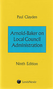 Cover of Arnold-Baker on Local Council Administration