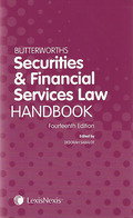 Cover of Butterworths Securities and Financial Services Law Handbook 2013