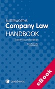 Cover of Butterworths Company Law Handbook 2013 27th ed (eBook)