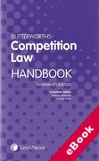 Cover of Butterworths Competition Law Handbook 2013 (eBook)